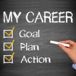 Chalkboard with career mentoring checklist